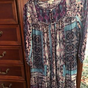 Amazing colors Lucky Brand dress washed not worn M